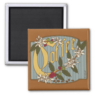 Victorian Coffee Sign 2 Inch Square Magnet