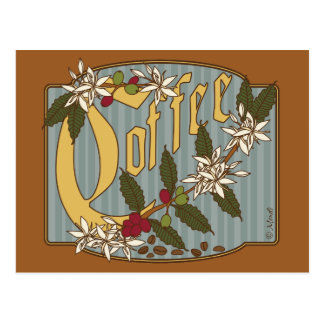 Victorian Coffee Sign Postcard