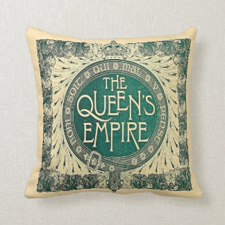 Victorian comemmerative Jubilee design Throw Pillow