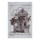 Victorian Conch House | Key West, Florida Poster