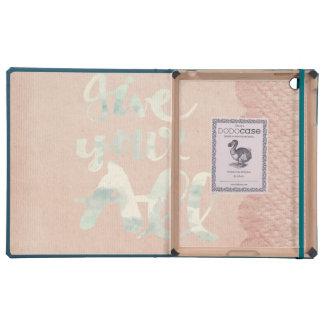 Victorian, cordón, arpillera, lino, rosa, vintage iPad carcasa