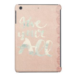 Victorian, cordón, arpillera, lino, rosa, vintage funda para iPad mini retina