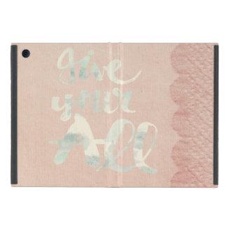 Victorian, cordón, arpillera, lino, rosa, vintage iPad mini protectores