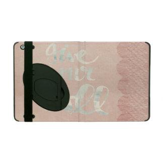 Victorian, cordón, arpillera, lino, rosa, vintage iPad protector
