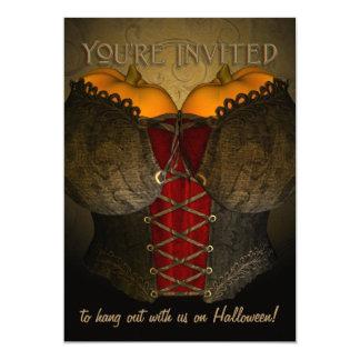 Victorian Corset Funny Halloween Invitation