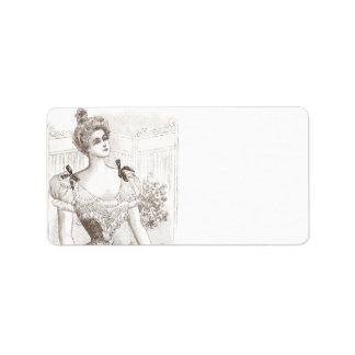 Victorian Corset Pompadour Vintage Fashions Personalized Address Labels