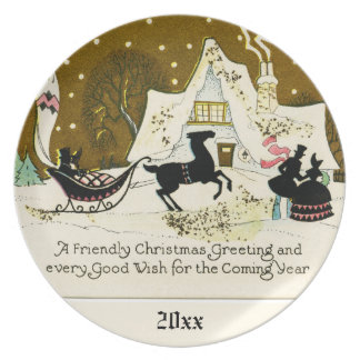 Victorian Country Christmas Customized Year Plate