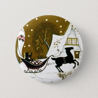 Victorian Country Christmas Pinback Button