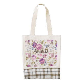 Victorian,country,lavender,shabby,chic,roses,paris Zazzle HEART Tote Bag