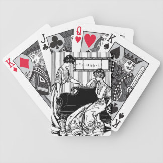 Victorian Couple Bicycle Playing Cards
