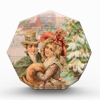 Victorian Couple Christmas Winter Acrylic Award