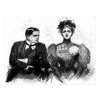 Victorian Couple Postcard