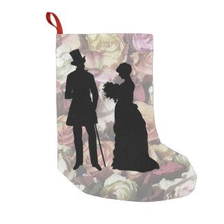 Victorian Couple Small Christmas Stocking
