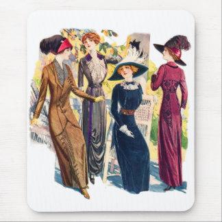 Victorian Coutre de Edwardian de la mujer de la Alfombrillas De Ratones