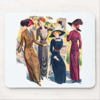 Victorian Coutre de Edwardian de la mujer de la Tapete De Raton
