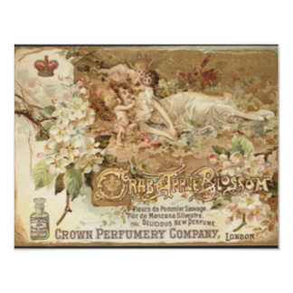 Victorian Crab Apple Perfume Ad Card
