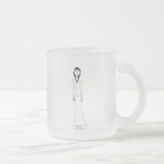 Victorian Creepy Frosted Glass Coffee Mug