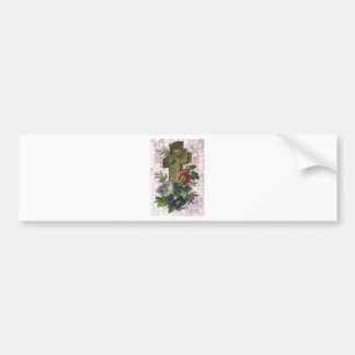 Victorian Cross With Flowers Easter Bumper Sticker