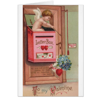 Victorian Cupid Love Letter Valentine's Day Card