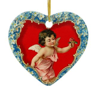 Victorian Cupid Ornament ornament