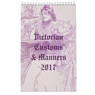 Victorian Customs & Manners Calendar