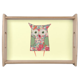 Victorian cute Owl Serving Tray