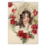 Victorian cutie greeting card