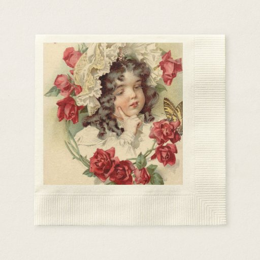 Victorian cutie disposable napkin