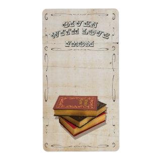 Victorian dado con Bookplate del amor Etiquetas De Envío