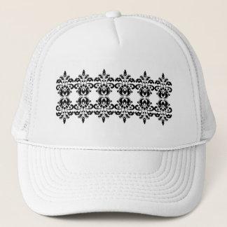 Victorian damask pattern trucker hat