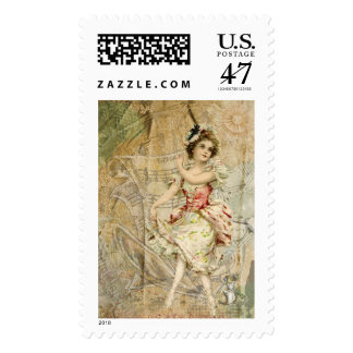 Victorian Dancing Girl Sheet Music Postage $0.47