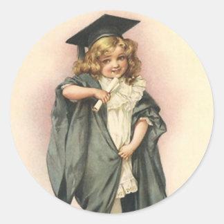 Victorian de las muñecas de los rosas de la pegatina redonda