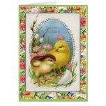 Victorian de los polluelos de Pascua del vintage f Felicitación
