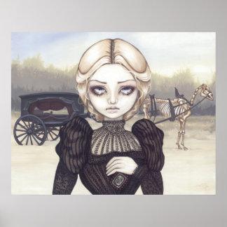 Victorian de luto triste de la impresión del arte  poster