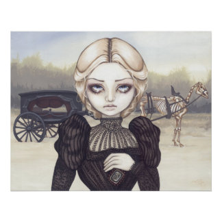 Victorian de luto triste de la impresión del arte  póster