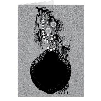 Victorian Deco Vintage Xmas Tree Doily Ornament Card