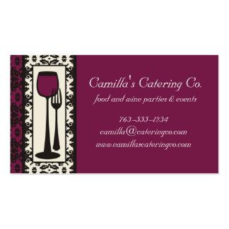 victorian decorative food wine catering biz card business cards