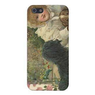Victorian del caso del iPhone 4 con la recogida de iPhone 5 Carcasa