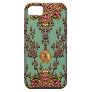 Victorian del jaspe de Melantorey duro Funda Para iPhone SE/5/5s