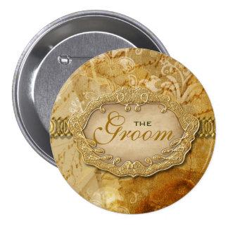 Victorian del marrón del oro del vintage del fies pin