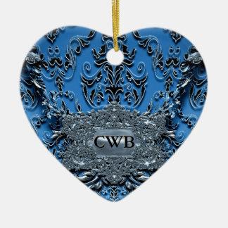 Victorian del petirrojo de Waythorne Adorno Navideño De Cerámica En Forma De Corazón