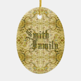 Victorian del vintage adorno navideño ovalado de cerámica