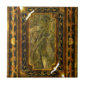 Victorian del vintage del oro de Brown elegante Tejas Cerámicas