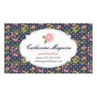 Victorian del vintage floral cualquier empleo tarjetas de visita