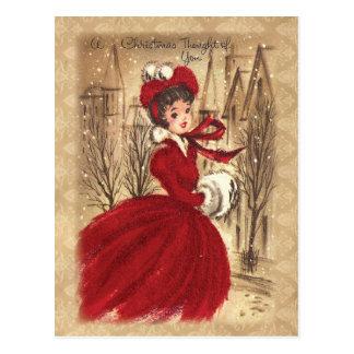 Victorian del vintage navidad pensado en usted postal