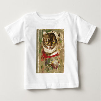 Victorian Dentist Toothache Cat Floral Book Baby T-Shirt