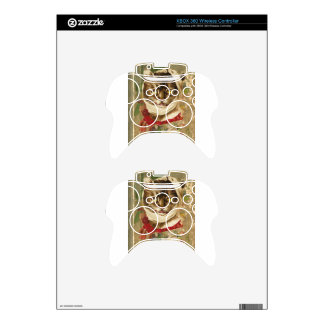 Victorian Dentist Toothache Cat Floral Book Xbox 360 Controller Skins
