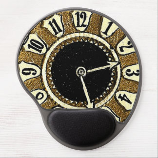 Victorian Die Cut Clock Face Steampunk Gel Mouse Pad