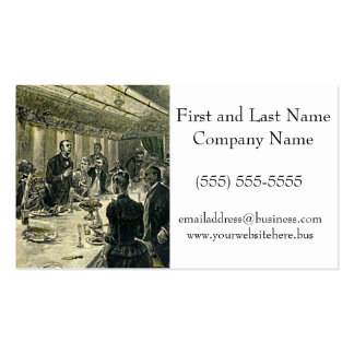 Victorian Dinner Party Vintage Illustration Business Card