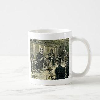 Victorian Dinner Party Vintage Illustration Coffee Mug